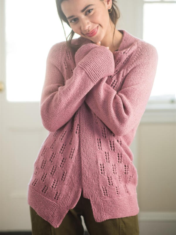 The Ruston knit cardigan is perfect for everyday wear. Free pattern.