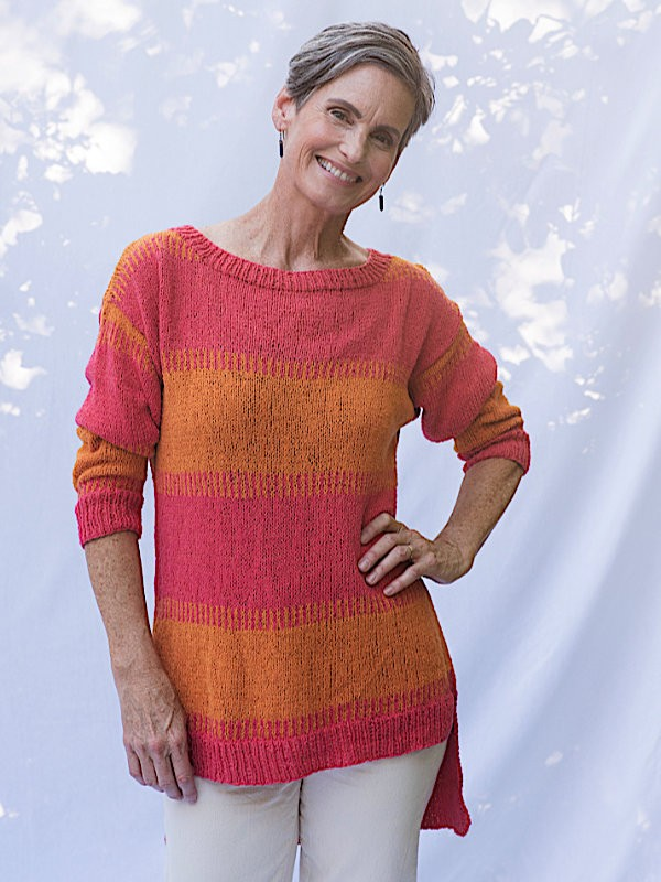 Knit pullover Rosendale. Free pdf pattern.