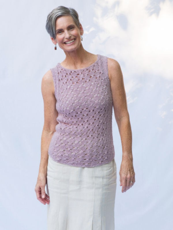 Knit spring lace top Haverhill. Free pdf pattern.