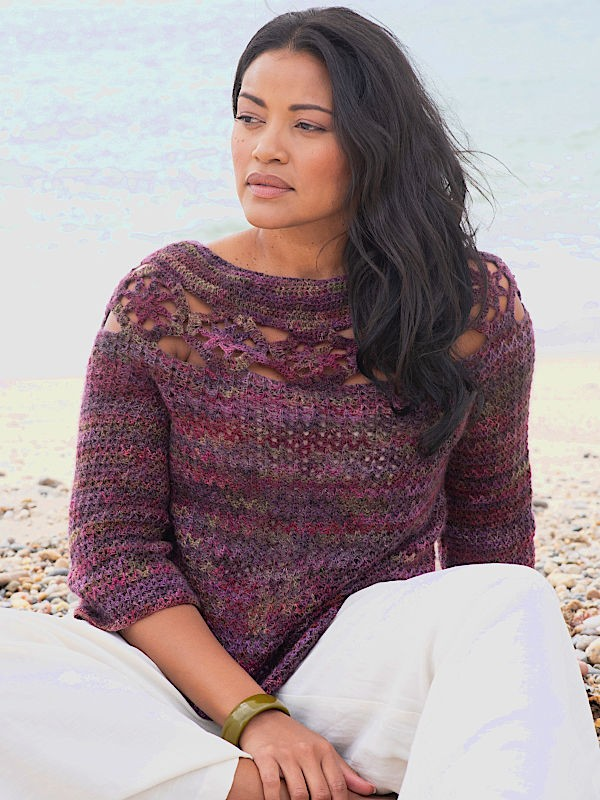 Сrochet pullover Somerville. Perfect for cool summer nights. Free pattern.