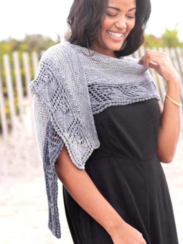 Summer shawl Ashby. Free knitting pattern.