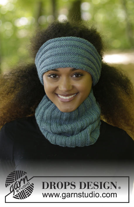 Knit headband Circled Ribs. Free pattern (ribbed ribbing).
