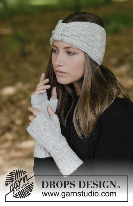 Adults and teen knit headband Annely. Free pattern (cables).