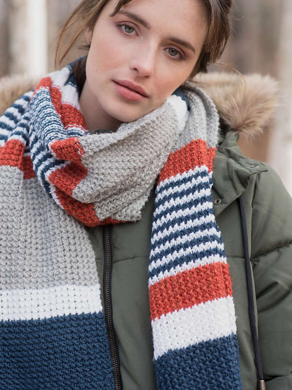 Adults and teens scarf Melville. 2