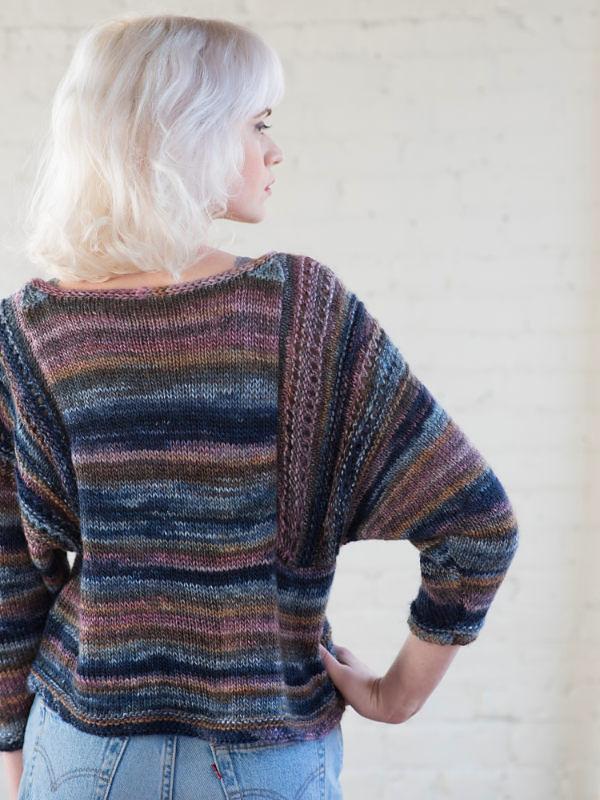 Adults pullover Marley. Free knitting written pattern (ballet neck). 2