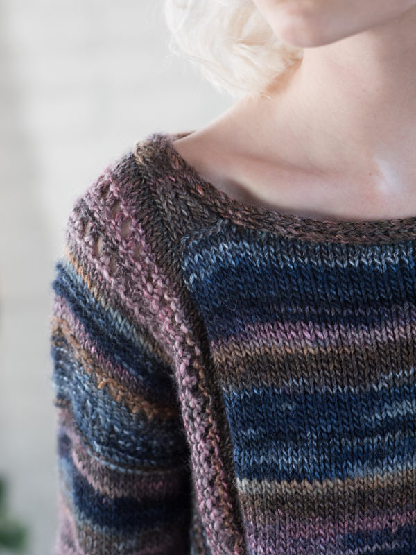 Adults pullover Marley. Free knitting written pattern (ballet neck).