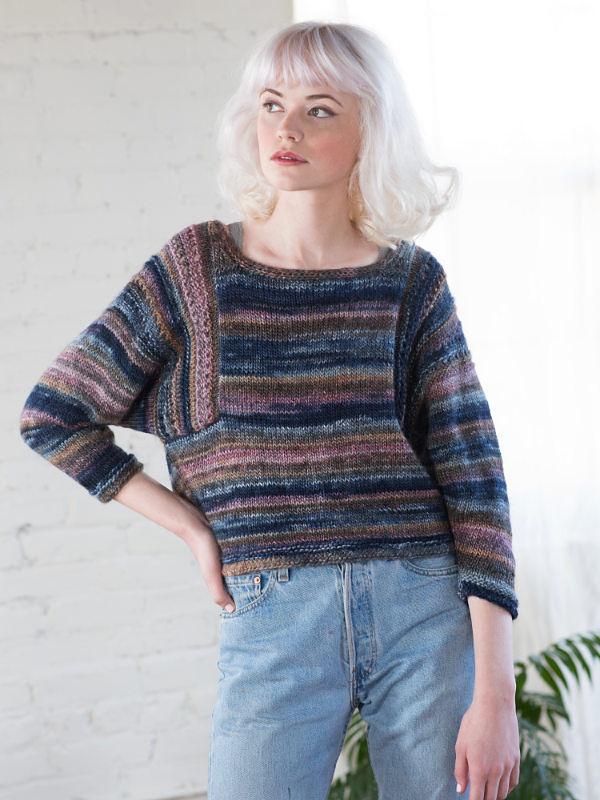 Adults pullover Marley. Free knitting written pattern (ballet neck).