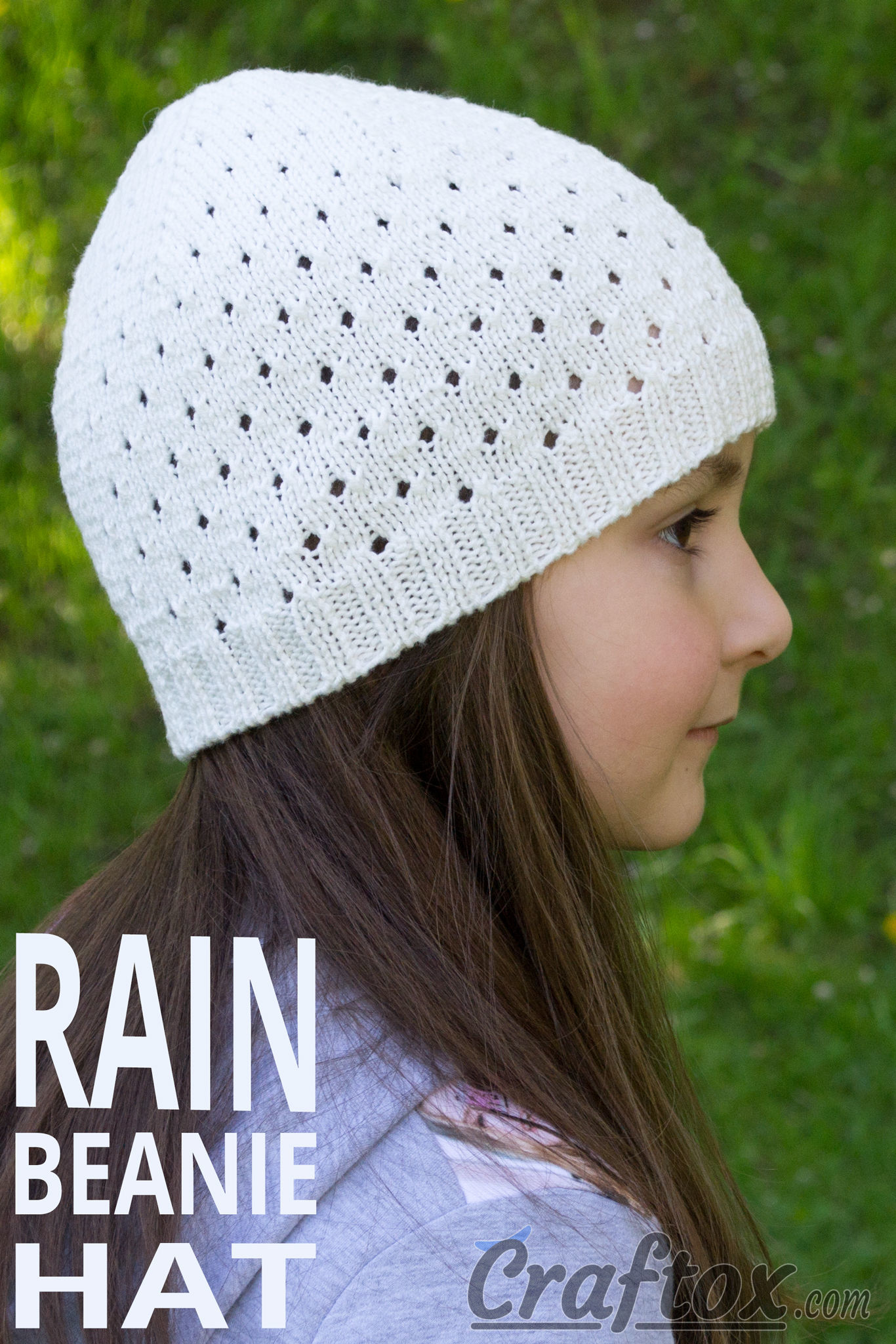 Beanie Hat Rain Free Knitting Pattern