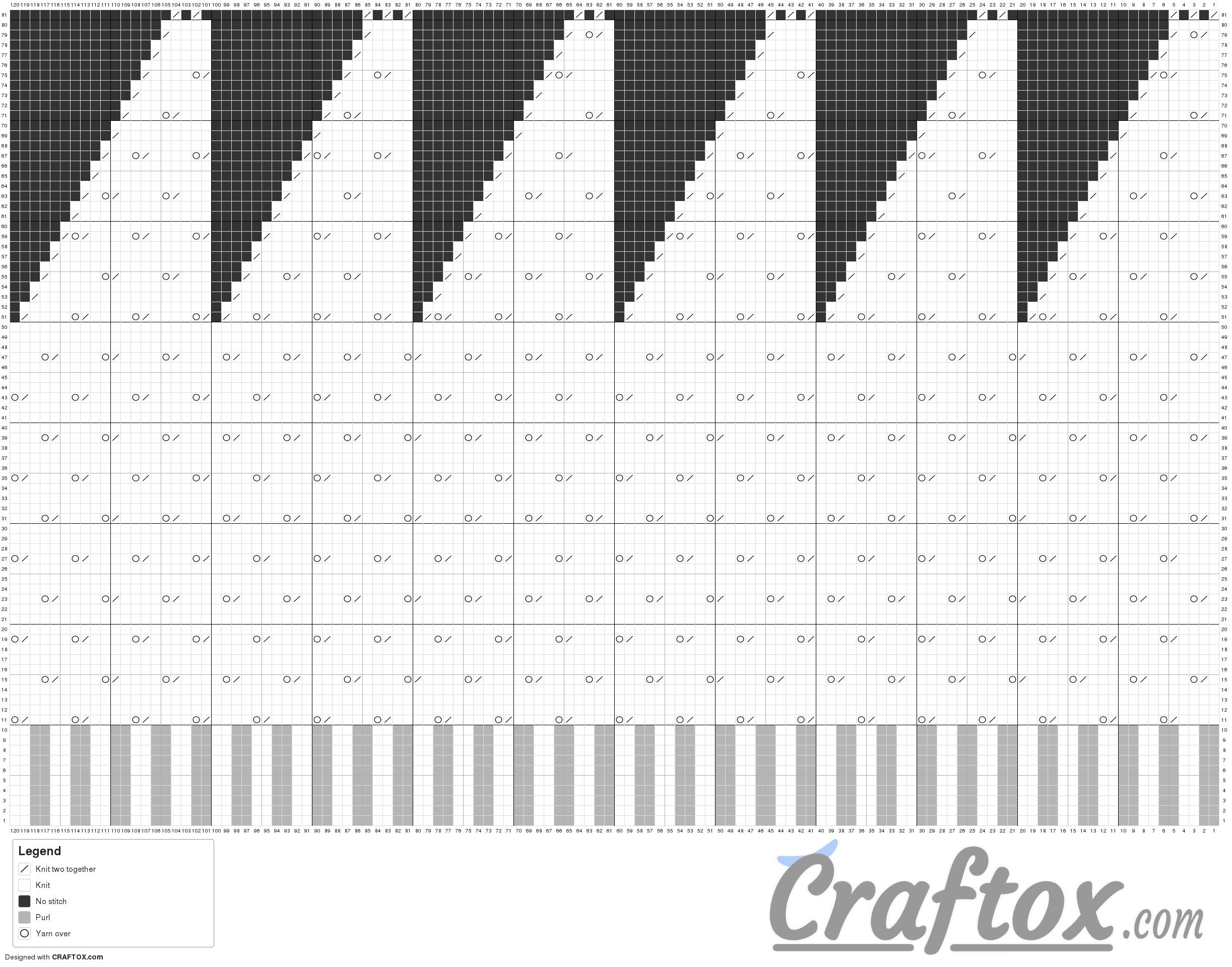 "Pattern chart: Beanie hat ""Rain"""