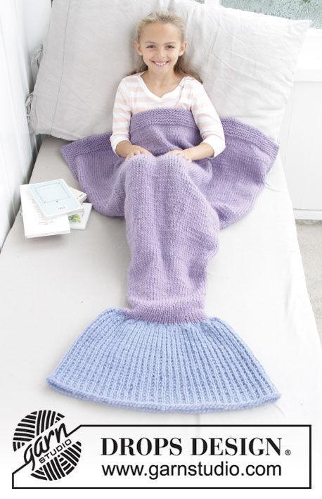 Blanket Cute Mermaid. Free knitting pattern.