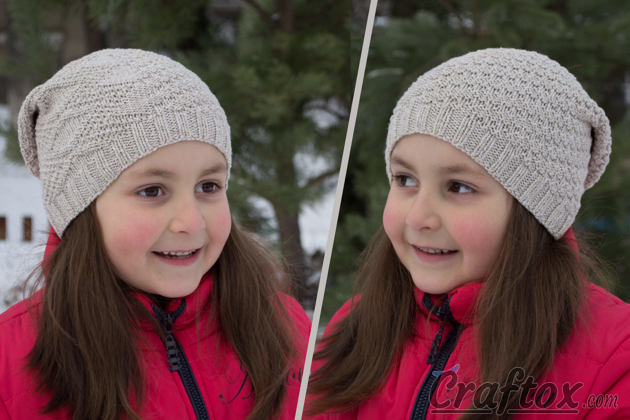 Child s slouchy beanie hat -