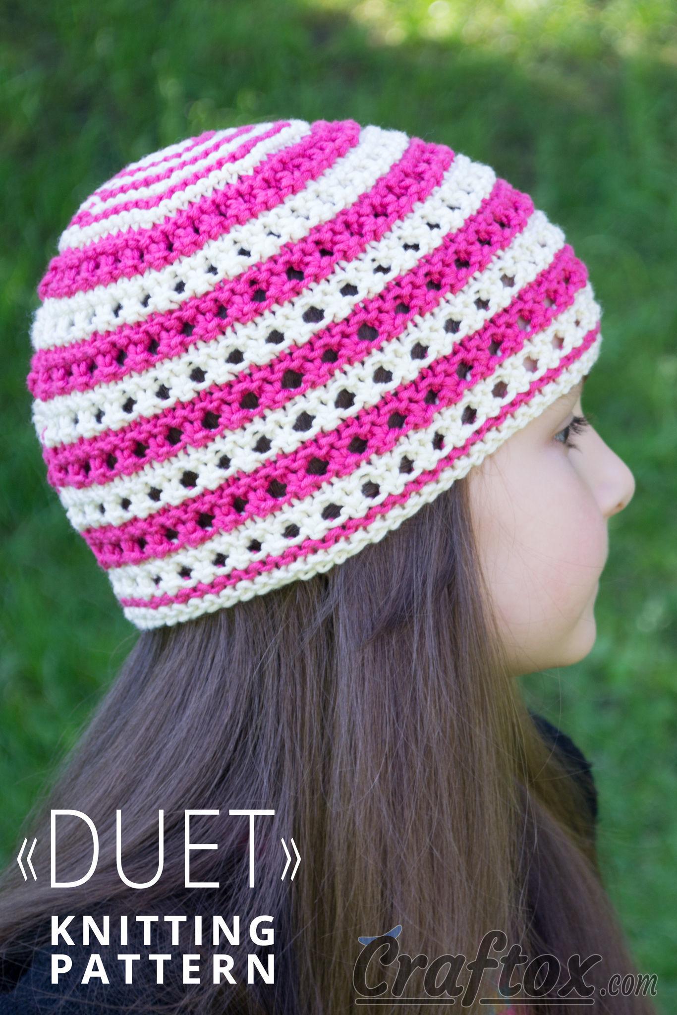 Color stripe beanie hat