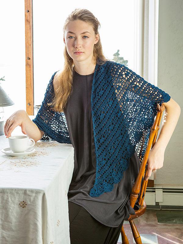 Crochet shawl wrap Antigone. Free pdf pattern.