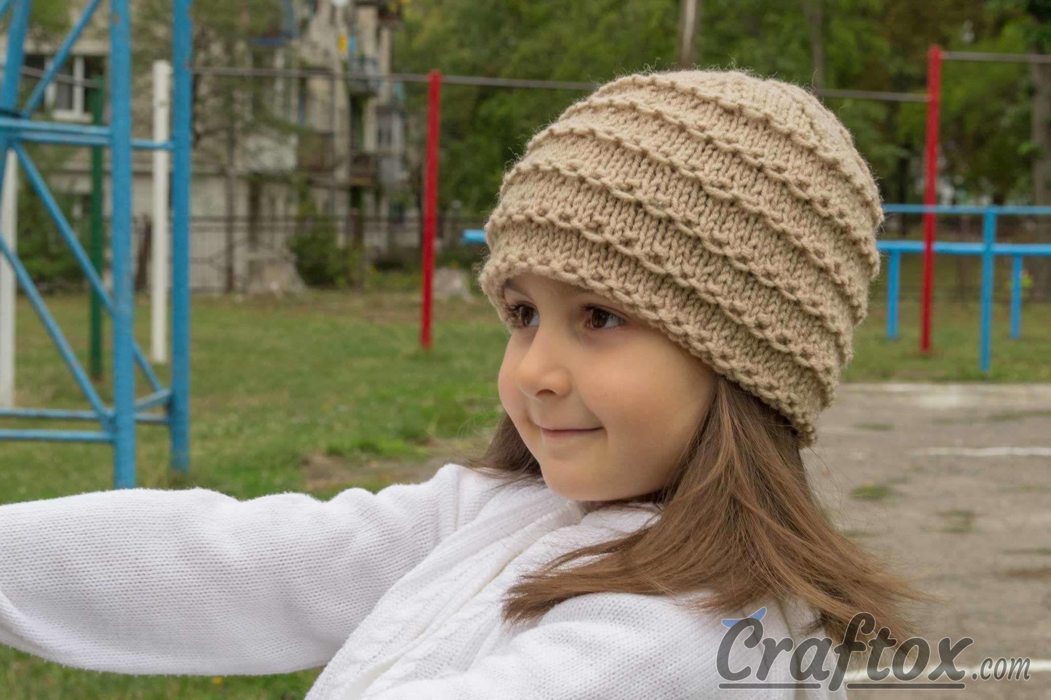 Easy Beanie Knitting Pattern Free : Easy beanie knitting pattern free