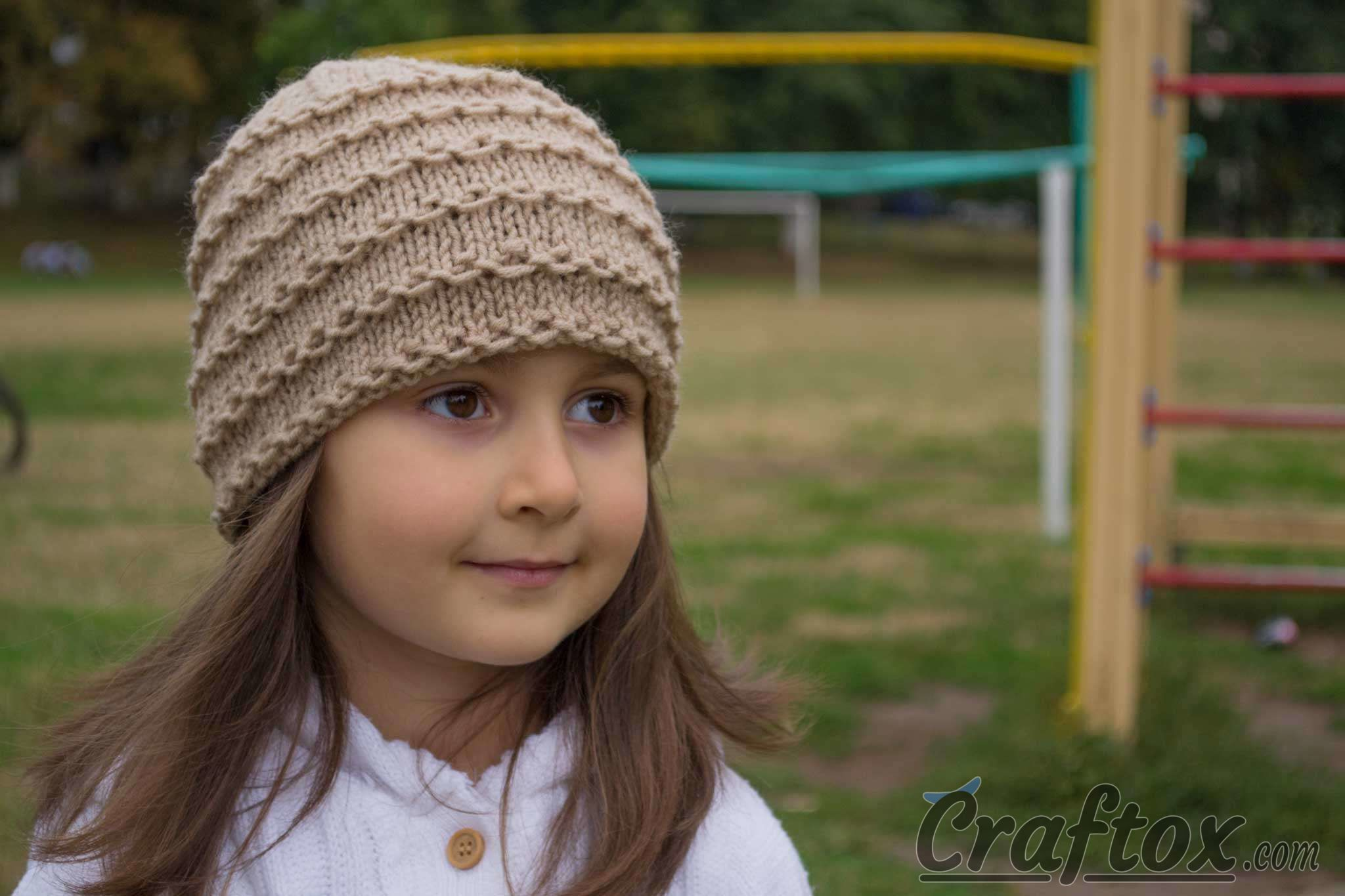 Knit Pattern Beanie Easy : Easy beanie knitting pattern. Free.
