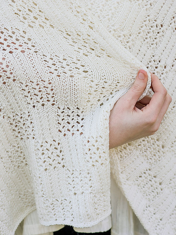 Easy knitted rectangular wrap Marcy. Free pattern (lace). 2