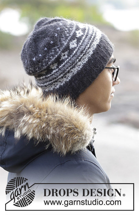 Easy unisex beanie (toque) Northway. Free knitting pattern (norwegian).
