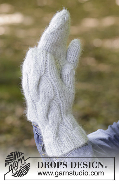 Easy unisex mittens Snow Drift. Free knitting pattern (chart, video tutorial, written pattern).