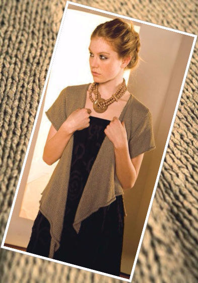 Easy women's cardigan Leilani. Free knitting pattern to download.