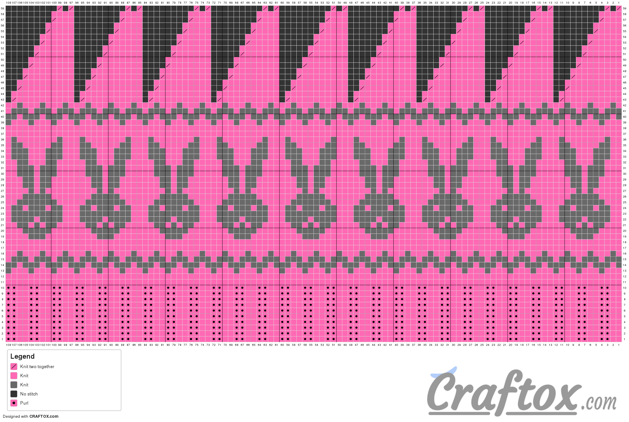 Fair Isle Knitting Free Charts : Free bunny hat knitting pattern fair isle jacquard