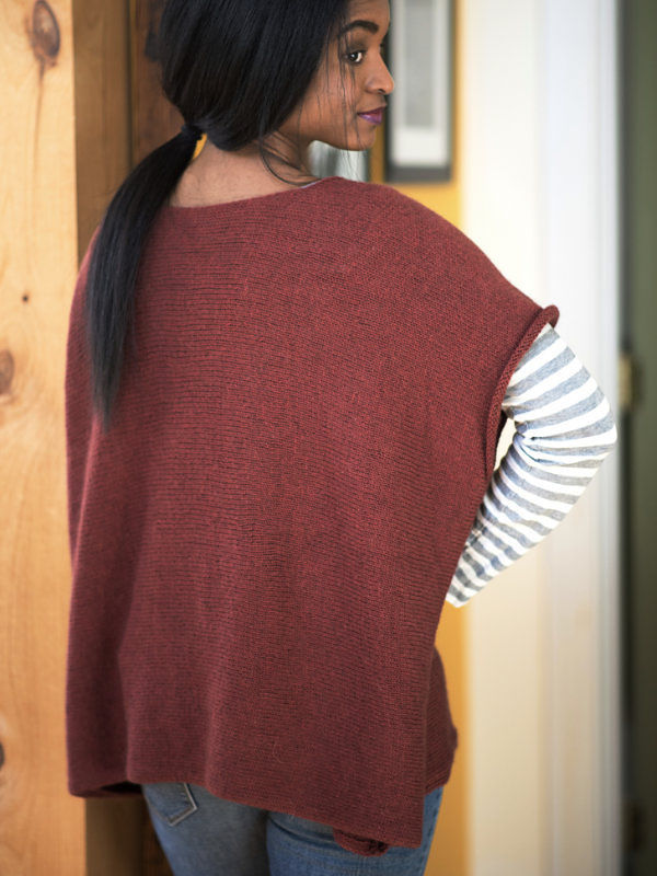Free knitting pattern for simple oversized tee Cora. 2