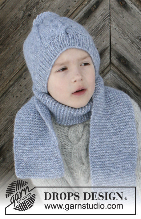 Girls and boys (children, toddler) scarf The Big Chill. Free knitting pattern.