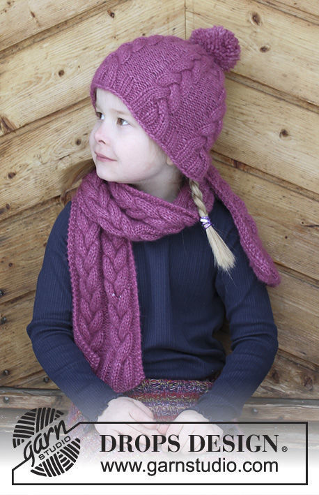 Girls And Boys Toddler Children Scarf Berry Wrap Free Knitting