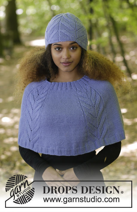 Girls and women's beanie Laila. Free knitting pattern (chart, video tutorial, written pattern).