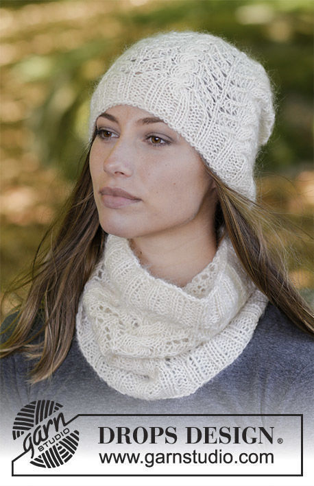Girls and women's cowl Enrica. Free knitting pattern.