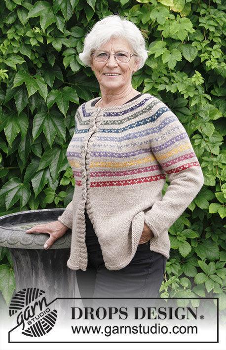 Girls And Womens Knit Cardigan Rainbow Hugs Jacket Free Pattern