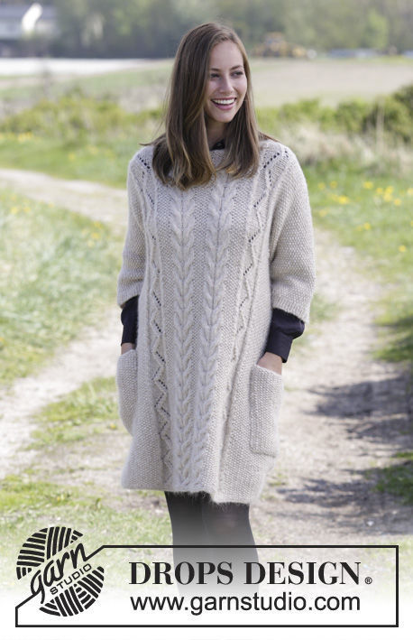 Girls and women's pullover Elegant Comfort. Free knitting pattern.