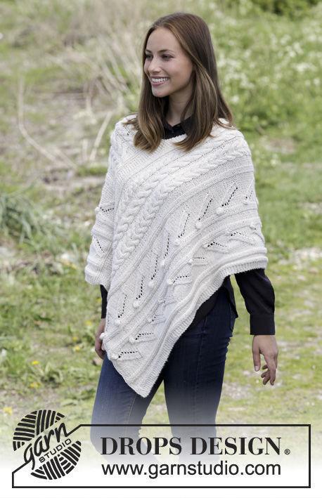 Girls (teen) and women\'s poncho Winter\'s Heart. Free knitting ...