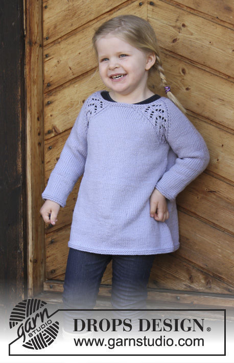 Girls Toddler Children Pullover Tickles Free Knitting Pattern