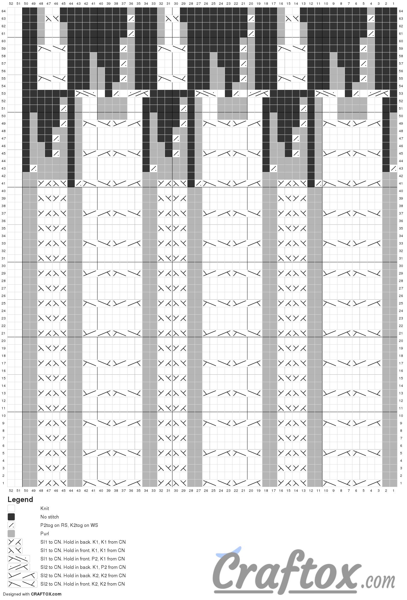 Pattern chart 1. Girls winter beanie.