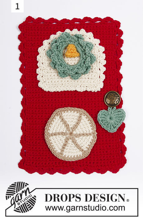 Hanging ornament Advent Calendar Doors. Free crochet pattern (stripes colorwork).