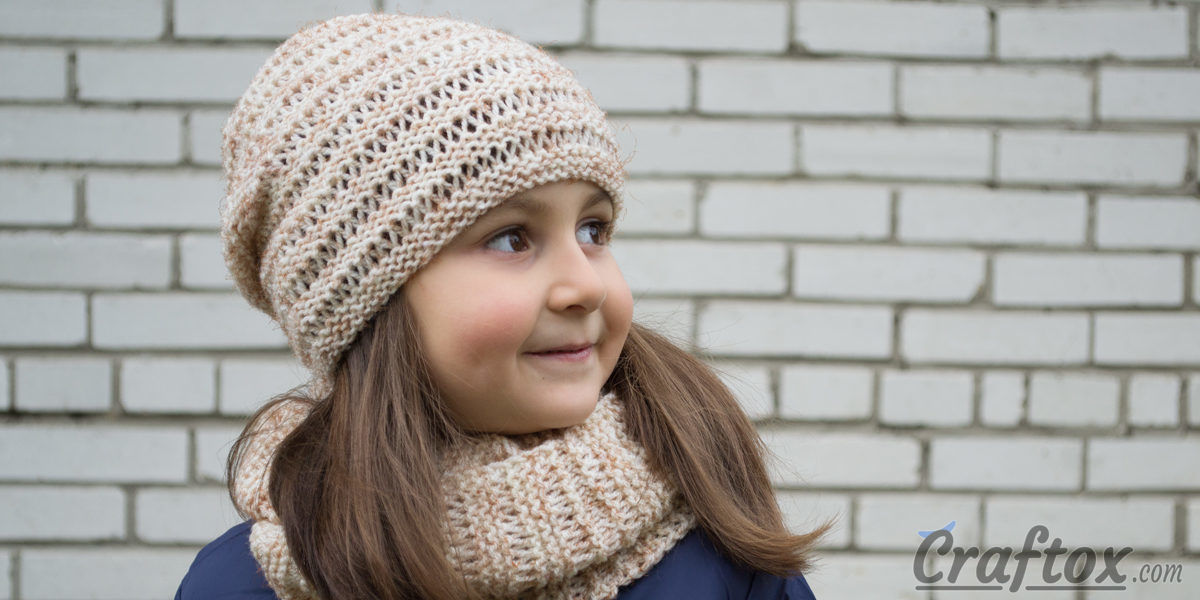 Cowl Knitting Pattern For Beginners : Hat and cowl set quot kari knitting pattern for beginners