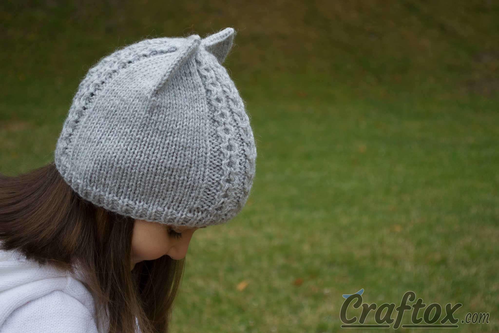 Cat Ear Hat Pattern Knit