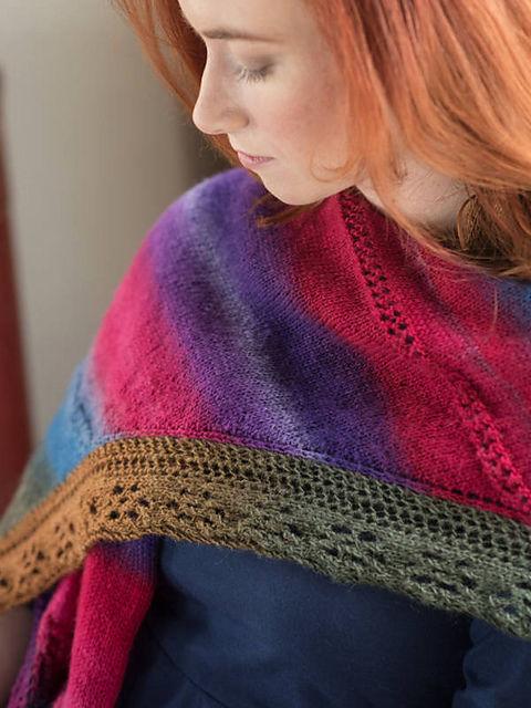 Knit shawl Mardi Gras. 2