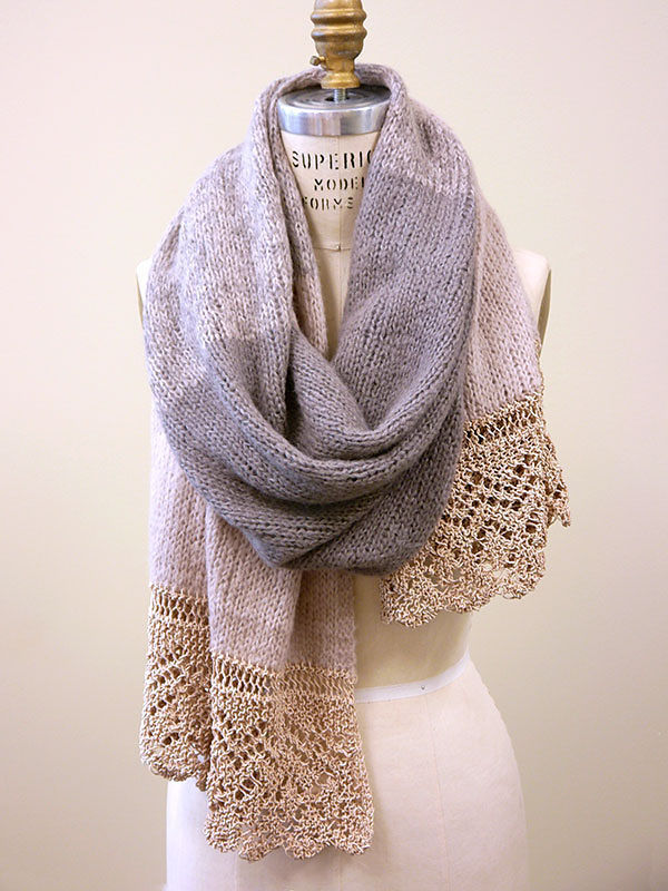 Knit shawl wrap Anastasia. Free pattern to download.