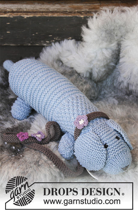 Knit softies animal Allie Woof the Dog. Free pattern.