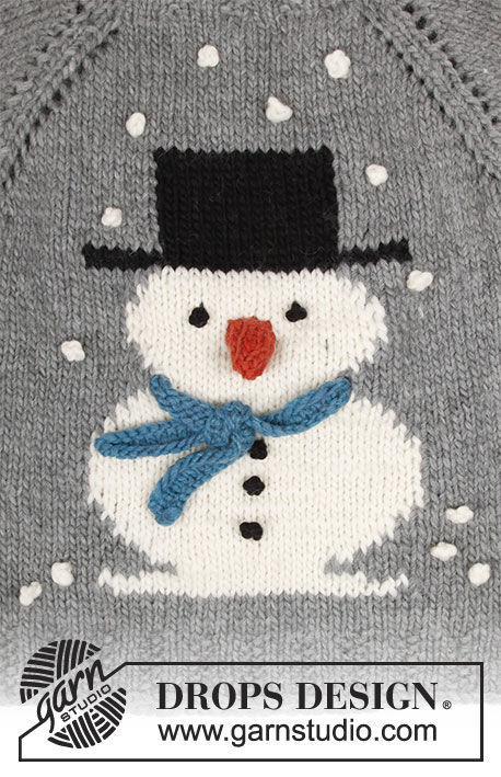 Knit unisex jumper Frosty's Christmas with snowman. Free pattern (raglan, intarsia, top down).