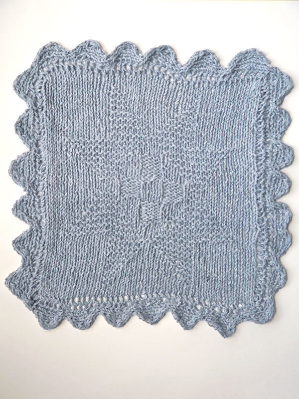 Knit washcloth dishcloth Agnes. Free pattern to download.