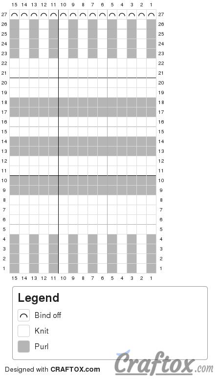 Pattern chart 1. Knitted headband