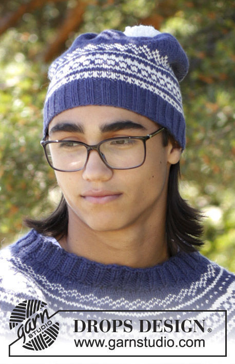 Mens And Boys Teen Beanie Lofoten Hat Free Easy Knitting Pattern