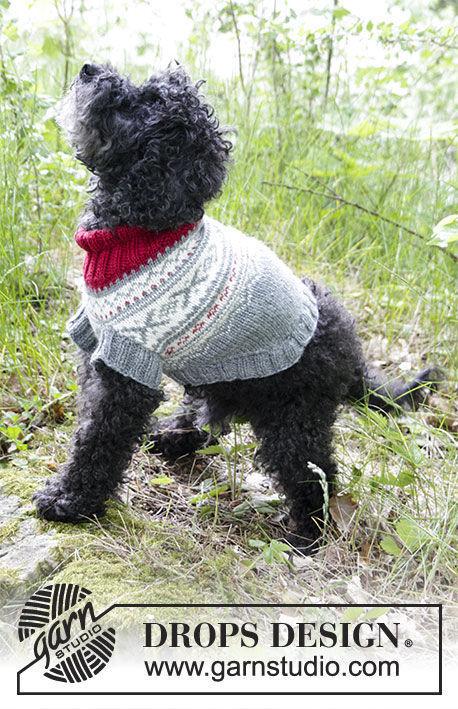 Pet clothing Narvik Woof. Free knitting pattern (chart, video tutorial).