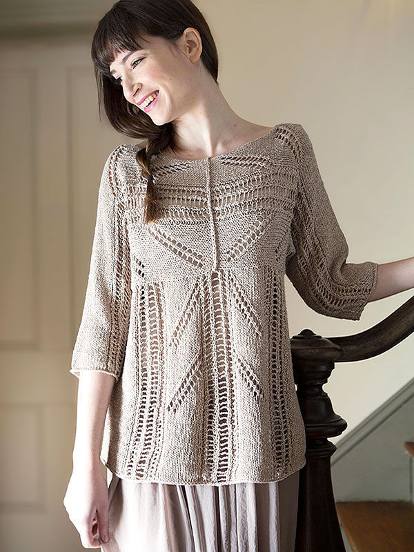Pullover Zircon. Knitting pattern free download (lace).