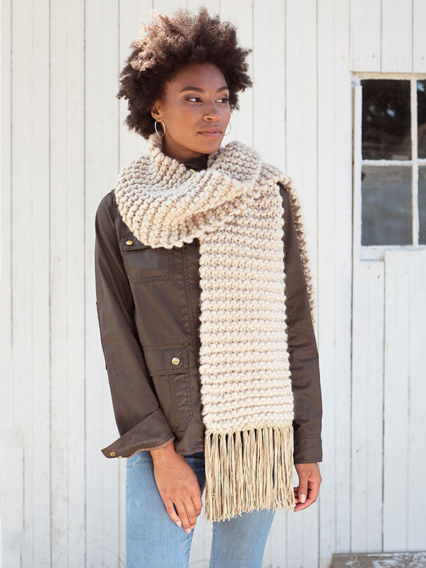 Simple scarf Fosdyke. Free knitting pattern. 2