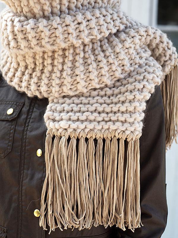 Simple scarf Fosdyke. Free knitting pattern. 4