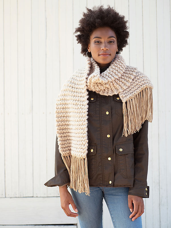 Simple scarf Fosdyke. Free knitting pattern.