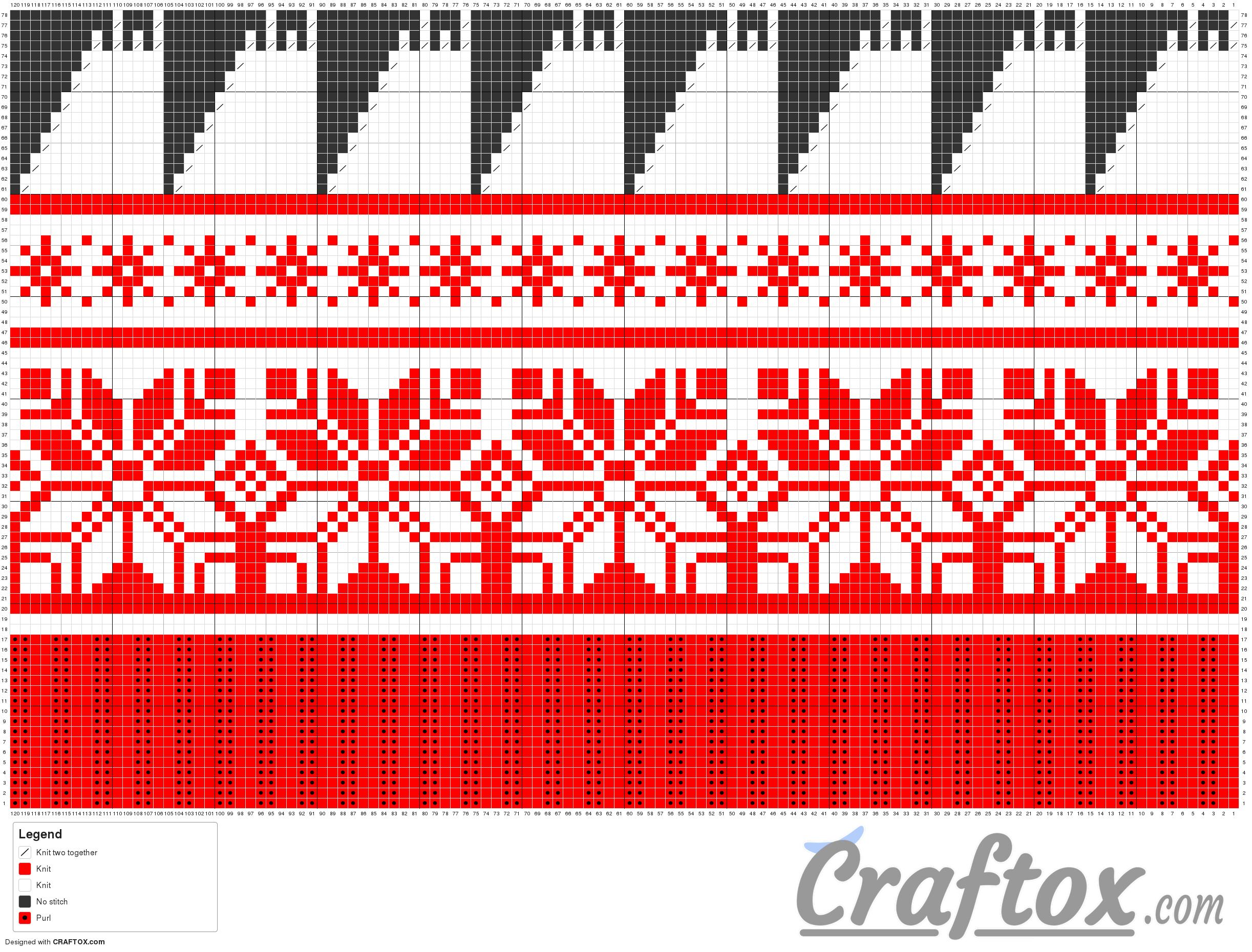 Pattern chart 6. Hat. Free Jacquard knitting pattern.